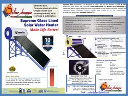 Supreme Solar ETC Glass Lined Solar Water Heater Series 110 L