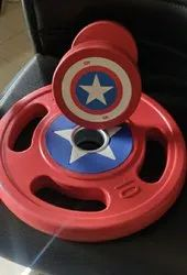 Rubber Dumbbell Plates Captain of America