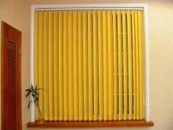 Yellow PVC Vertical Window Blind