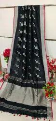 Linen Buti Work Sarees