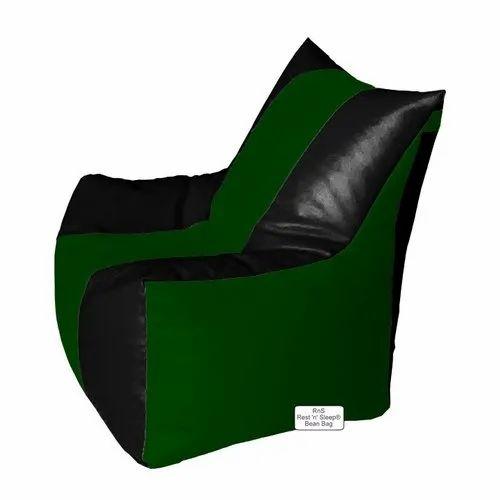 Astonishing Bean Bag Filled With Beans Filler Classic Bean Chair Black Bottle Green Machost Co Dining Chair Design Ideas Machostcouk
