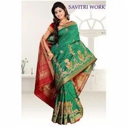 Fancy Embroidery Silk Sarees