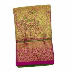 Party Wear Printed Kachipuram Pattu Saree, With Blouse Piece, 6.5 m