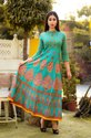 Ladies Printed Long Anarkali Kurtis