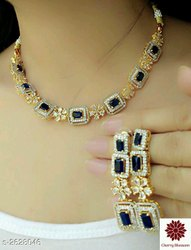 Cherry Blossom Attractive American Diamond Jewellery Set