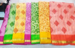 Cotton Kota Doria Supernet Saree Without Blouse