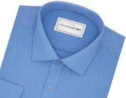 Blue Formal Wear Formal Shirt