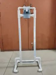 Foot operated sanitizer stand