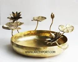Iron Gold FANCY ANTIQUE BOWL, Packaging Type: Brown Corrugated, Size: 25 X 25 X 12 Cm