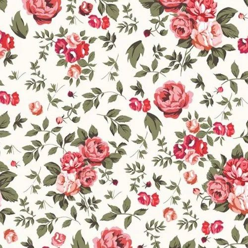 Printed Floral Print Rayon Fabric, Packaging Type: Than
