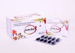 Ginseng with Multivitamin and Multimineral Softgel Capsules, Packaging Type: Mono Carton, Packing Size: 10x1x10