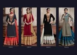 Kessi Cotton Designer Semi-Stitched Salwar Suit