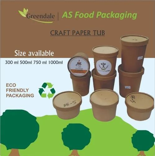 Round Paper Container Take Away