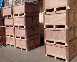 Moisture Proof Rectangle Plywood Boxes, For Packaging,Shipping, Box Capacity: 500-800 kg