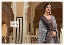 Rabta Pure Muslin Fancy Embroidery Work Traditional Designer Suits