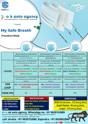 My Safe Breath Non Woven Disposable Mask With Melt Brown Filter