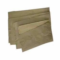 Brown Kraft Paper Grocery Packaging Bag