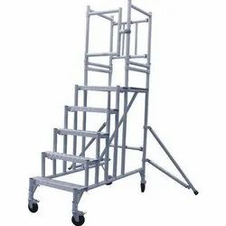 Aluminium Movable Step Ladder