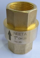 Vertical Brass Check Valve