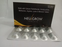 Biotin With Calcium Pantothenate,Acetylcysteine,Methionine,Arginine,Lysine & Mineral Tablet