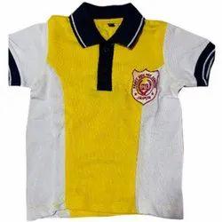 Kids School Cotton Collar Neck T Shirt
