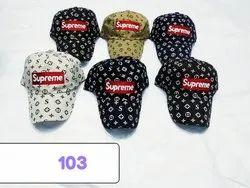 Supreme Cotton Caps,Stylish Embroidery Caps And Hats Code  103