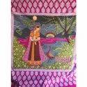 Jaipuri Scenery Print Bed Sheet