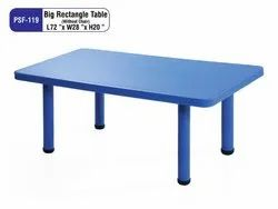 Multicolor Standard Big Rectangle Table