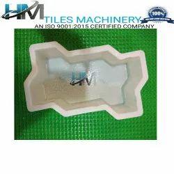 Zig Zag Silicon Plastic Paver Mould