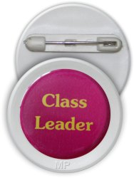Plastic Card Round School Badge