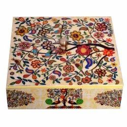 Wooden Handmade Enamel Printing Dry Fruit Box Chocolate Box Wedding Box Decorative Box Home Decor