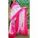 Modern Prints Tie-dye Bandhani Tye And Dye Cotton Saree, 5.5 M (separate Blouse Piece), With Blouse