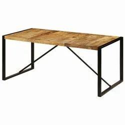 Black Standard Rajtai Wooden Dining Room Table