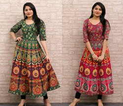 Sleeveless Cotton Kurti