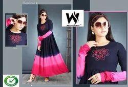 Non-Stretchable Woman Fashionable Cotton Rayon Kurti, Age Group: Adults, Handwash