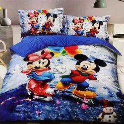 Cartoon Print Double Bedsheet