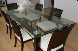Applewood Wooden Glass Dining Table