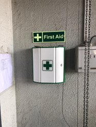 First Aid Box and Acrylic Pockets
