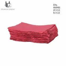 Handmade Paper, Fine-Cut, A4 Size  - Pink