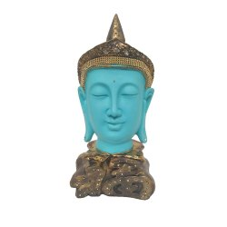 Sky Blue Gautam Buddha Statue