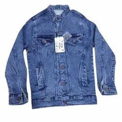 Full Sleeve Casual Jackets Mens Denim Jacket, Size: L-XXL