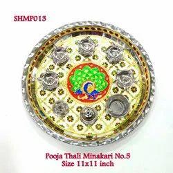 Meenakari Pooja Thali No 5