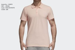 Plain Cotton Collar Neck Adidas T Shirt