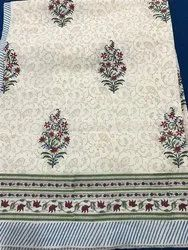 Mughal Flower Butti Block Print Bed Covers
