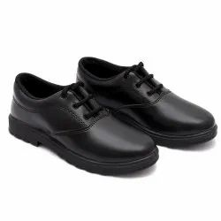 Polymer Men SAPAATO Black School Shoes, Size: 3 To 13