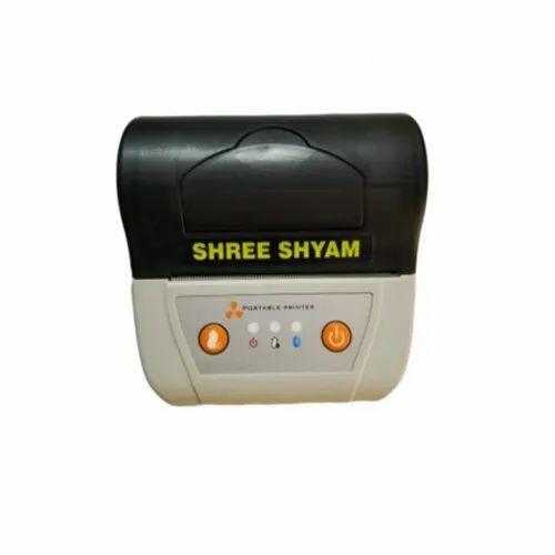 Black And White Shri Shyam SSE-BP80 Bluetooth Portable Thermal Printer