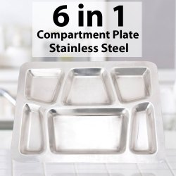 Steel Compartment Round Plate 2,3,4,5 & 6 Compartment Plate