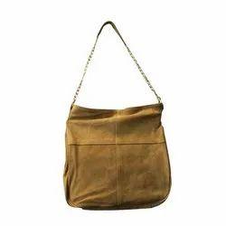 Khandelwal Exims Tan Color Leather Handbag, For Casual Wear, Gender: Women