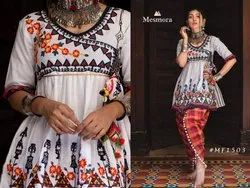 Embroidered Western Wear Kedia And Tulip Pants