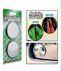 2 pcs 3R-020 Car Rear View Blind Spot Mirror Chrome Finish, Slimmest Blind Spot Mirror (2 Size)